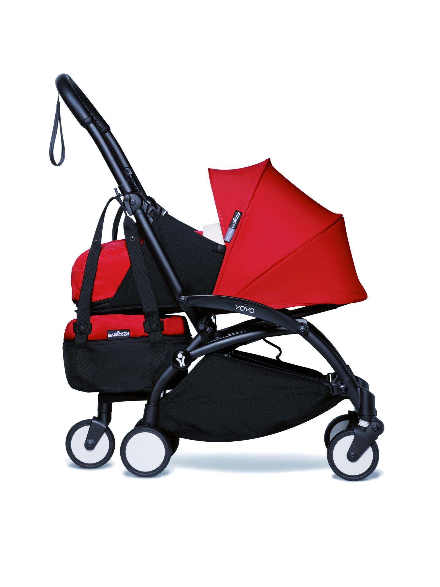 Сумка для коляски BabyZen YOYO+ Bag с колесом платформой Red Красный