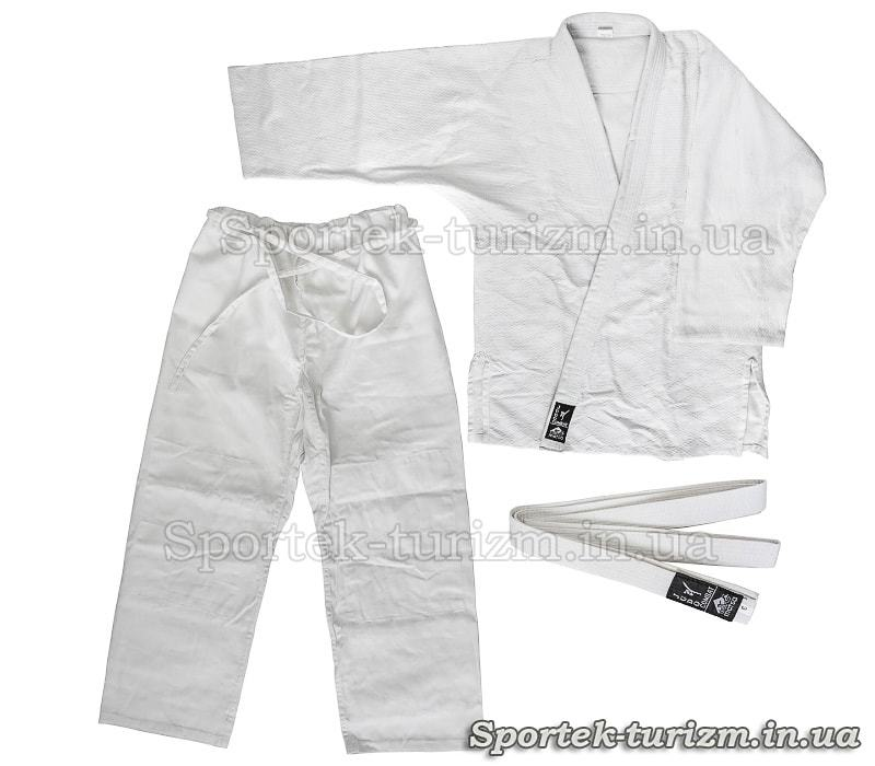 Кимоно для дзюдо COMBAT (100% хлопок, белый, рост 110, 120, 130, 140, 150, 160, 170, 180, 190 см)