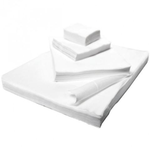 Салфетки одноразовые спанлейс в сложении  40х40 см, 100 шт.