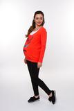 Лонгслив для беременных и кормящих 08111 красный