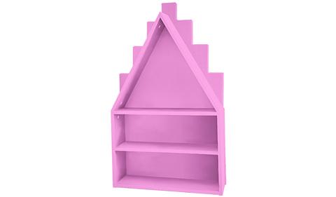 Полка-домик розовая