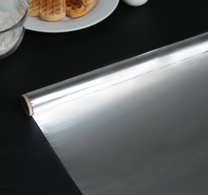 Картинка - Фольга алюминиевая пищевая 29 см  8 м