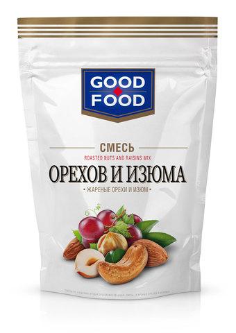 GOOD FOOD Смесь жареных орехов и изюма 130 г