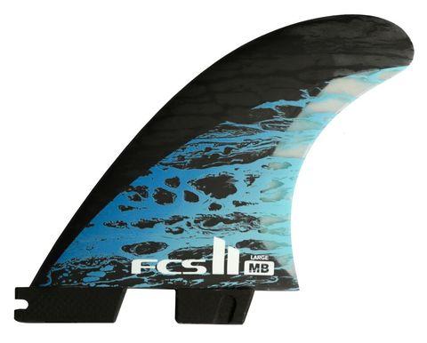 Плавники FCS II MB PC Carbon Blue Large Tri-Quad Retail Fins компл. из пяти L