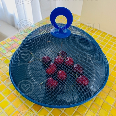 Крышка-сетка для продуктов d=21 см Синяя