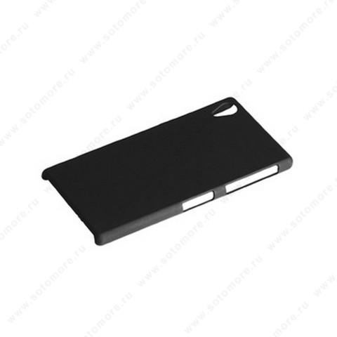 Накладка софт тач для Sony Z1 D6903 черная