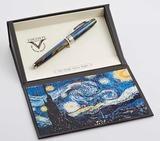 Visconti Van Gogh Звездная ночь синяя смола перо сталь хром (VS-783-18F)