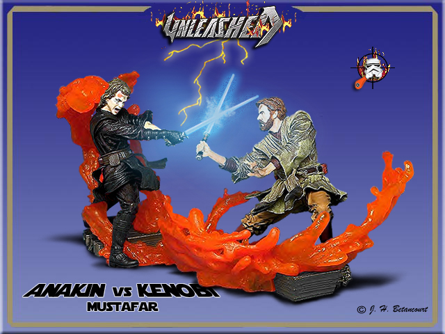 STAR WARS UNLEASHED ANAKIN LAVA