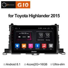 Штатная магнитола на Android 8.1 для Toyota Highlander 15+ Ownice G10 S1601E