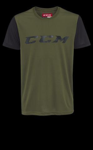 Футболка CCM GRIT SHORT SLEEVE TECH TOP YTH S зелен/черн