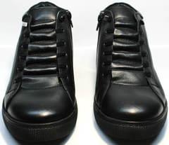 Зимние ботинки с мехом из натуральной кожи мужские Ridge 6051 X-16Black