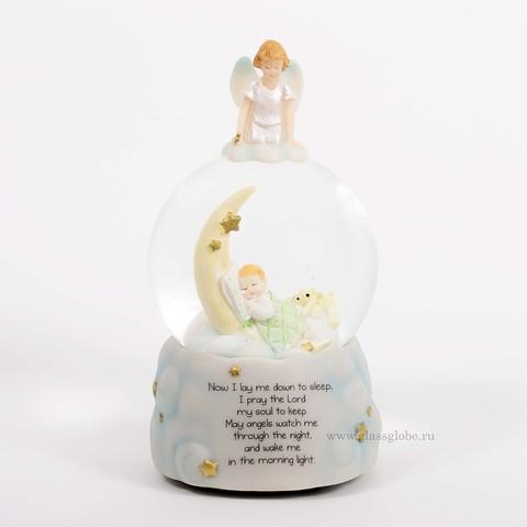 Стеклянный шар с блестками Сладких снов