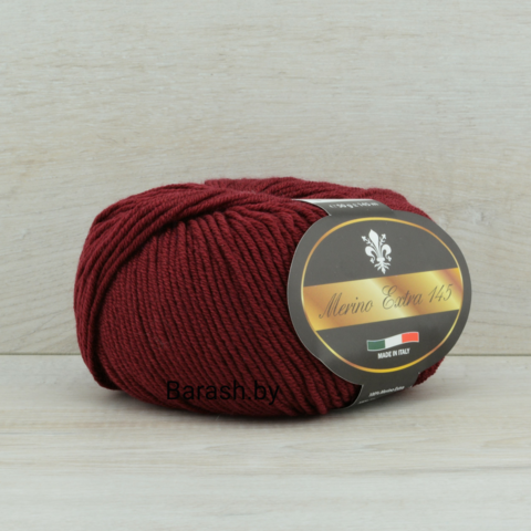 Пряжа Merino Extra 145 (Мерино экстра 145) Бордовый