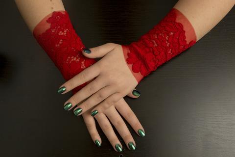 Роскошные манжеты Еstasi - Dolce Piccante. Цвет - красный