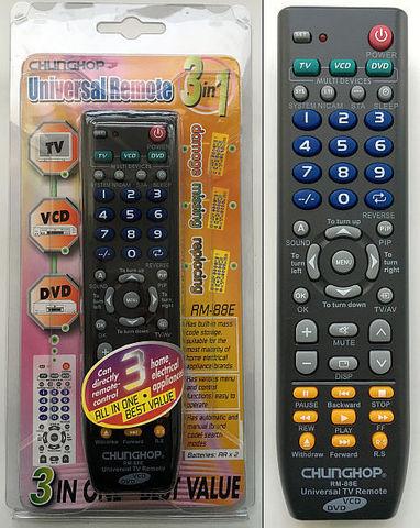 Универс пульт ЖК/VCD/DVD -88E 2*АА р/и 1510-110