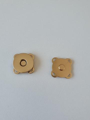 Кнопка магнитная пришивная диаметр 18 мм, цвет золото