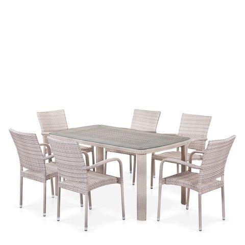 Комплект мебели (иск. ротанг)  6+1