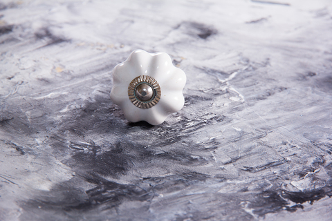 Ручка мебельная керамическая белая, арт. 00001052