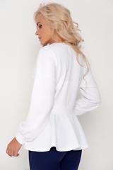 Модная блузка для успешной леди. Рукав длинный на манжете.  Силуэт приталенный с баской. 44-59см. 46-59см. 48-60см. 50-61см.