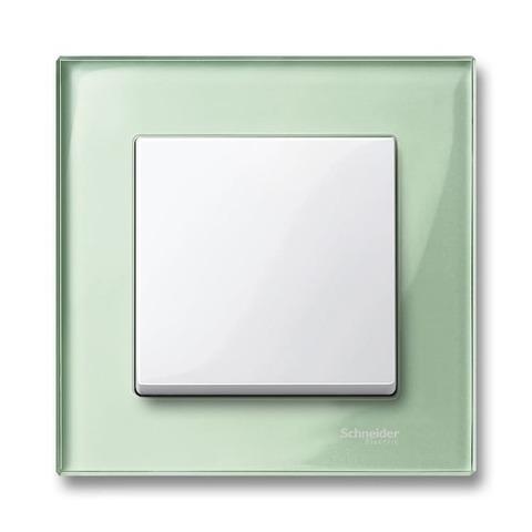 Рамка на 1 пост. Цвет Изумруд. Merten. M-Elegance System M. MTN404104