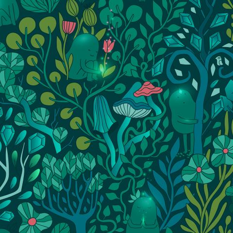 Изумрудный лес и его обитатели
