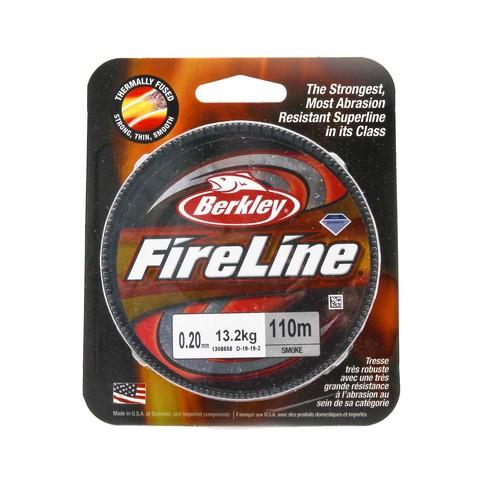 Плетеная леска Berkley Fireline 110M Темносерая 0,20mm Smoke