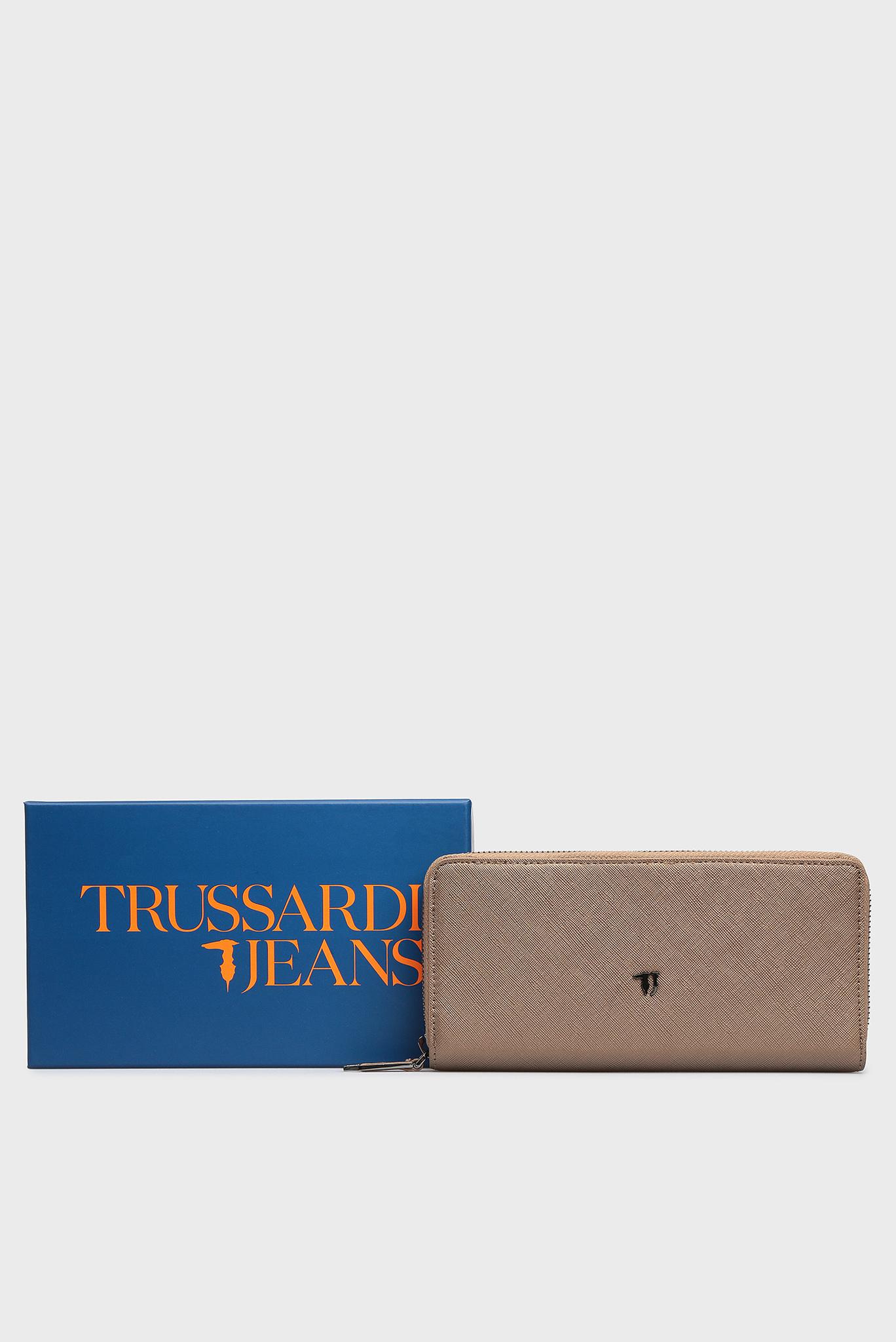 Женский бронзовый кошелек Trussardi Jeans