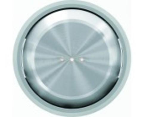 Выключатель одноклавишный с подсветкой. Цвет Хром. ABB Skymoon. 8101+2CLA860130A1401+2CLA819202A1001
