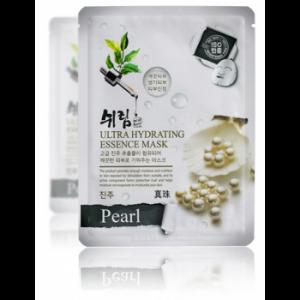 Маска тканевая для лица с жемчугом Shelim Hydrating Essence Mask - Pearl