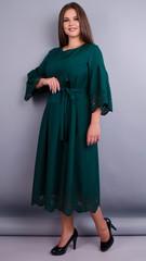 Ампир. Изумительное платье плюс сайз. Изумруд.