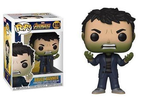 Фигурка Funko POP! Bobble: Marvel: Avengers Infinity War S2: Banner w/ Hulk Head 35776