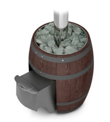 Банная печь Вариата Carbon ДА Баррель палисандр