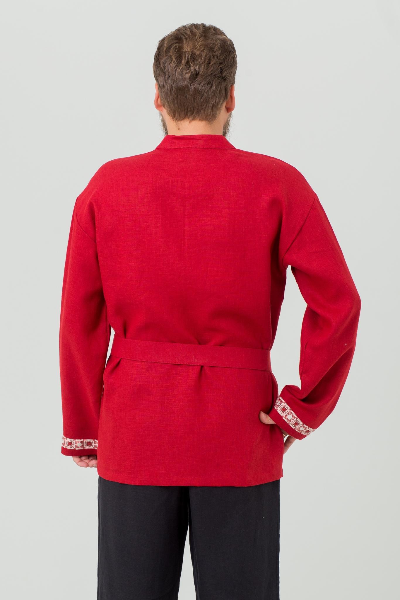 Рубаха славянская Брусничный цвет купить