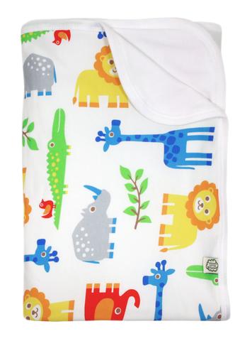 Детское одеяло орг.хлопок, Wildlife