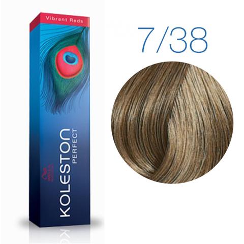 Wella Professional KOLESTON PERFECT 7/38 (Блонд золотой-жемчуг) - Краска для волос