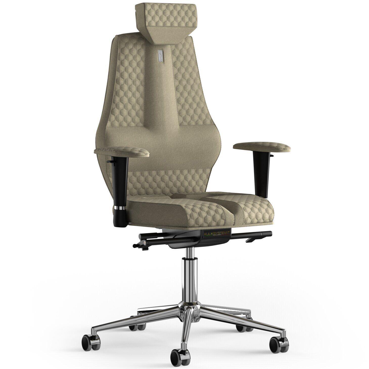 Кресло KULIK SYSTEM NANO Ткань с подголовником со строчкой