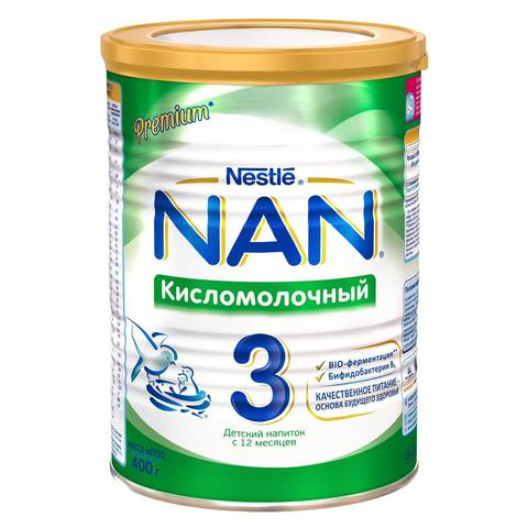 Смесь Nestle NAN 3 кисломолочный 400г с 12мес