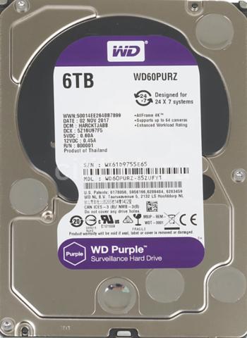 Жесткий диск WD Purple [WD60PURZ] 6 ТБ