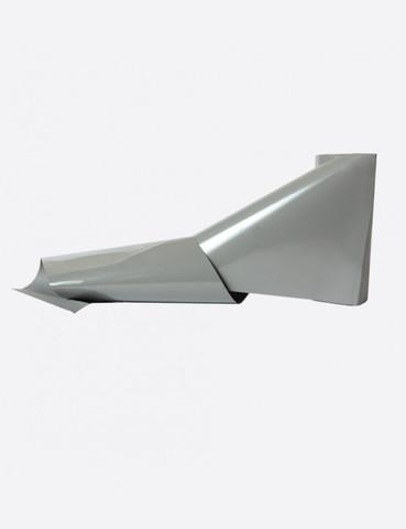 Фольга матовая светло-серый 1м х 5см 124