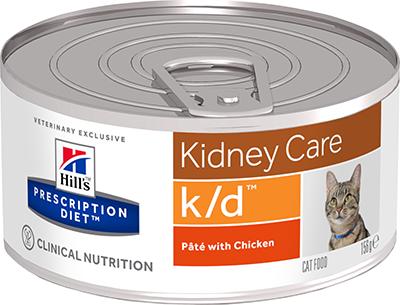 Влажные корма Ветеринарный корм для кошек Hill`s Prescription Diet k/d, лечение заболеваний почек, с курицей кд.png