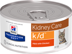 Ветеринарный корм для кошек Hill`s Prescription Diet k/d, лечение заболеваний почек, с курицей