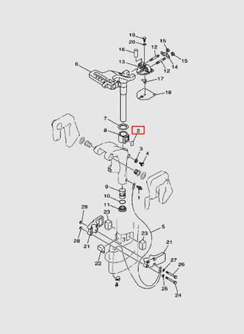 Пластина фрикционная  для лодочного мотора T15, OTH 9,9 SEA-PRO (14-2)