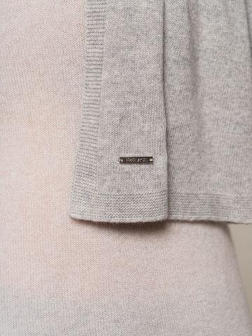 Женский шарф цвета серый меланж из 100% кашемира - фото 5
