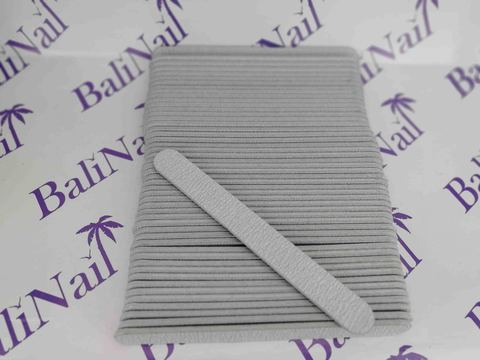 Пилка для ногтей (100/180) серая, прямая 50шт