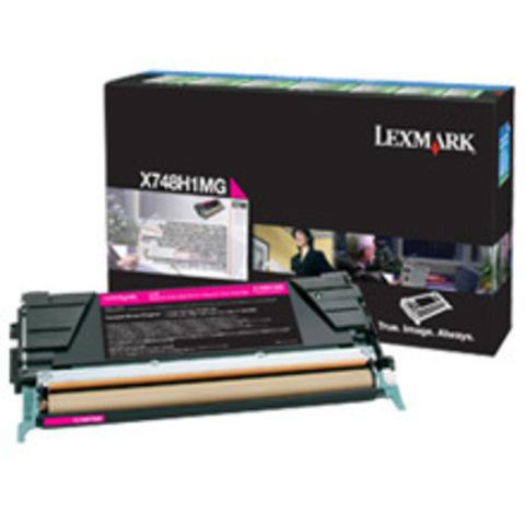 Картридж для принтеров Lexmark X746/X748 пурпурный большой ёмкости (magenta). (X748H1MG)