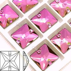 Купить пришивные стразы оптом Vitrail Pink, Square в интернет-магазине