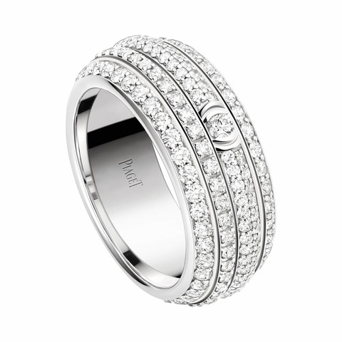 13091 - Кольцо из серебра с цирконами и вращающимся центром