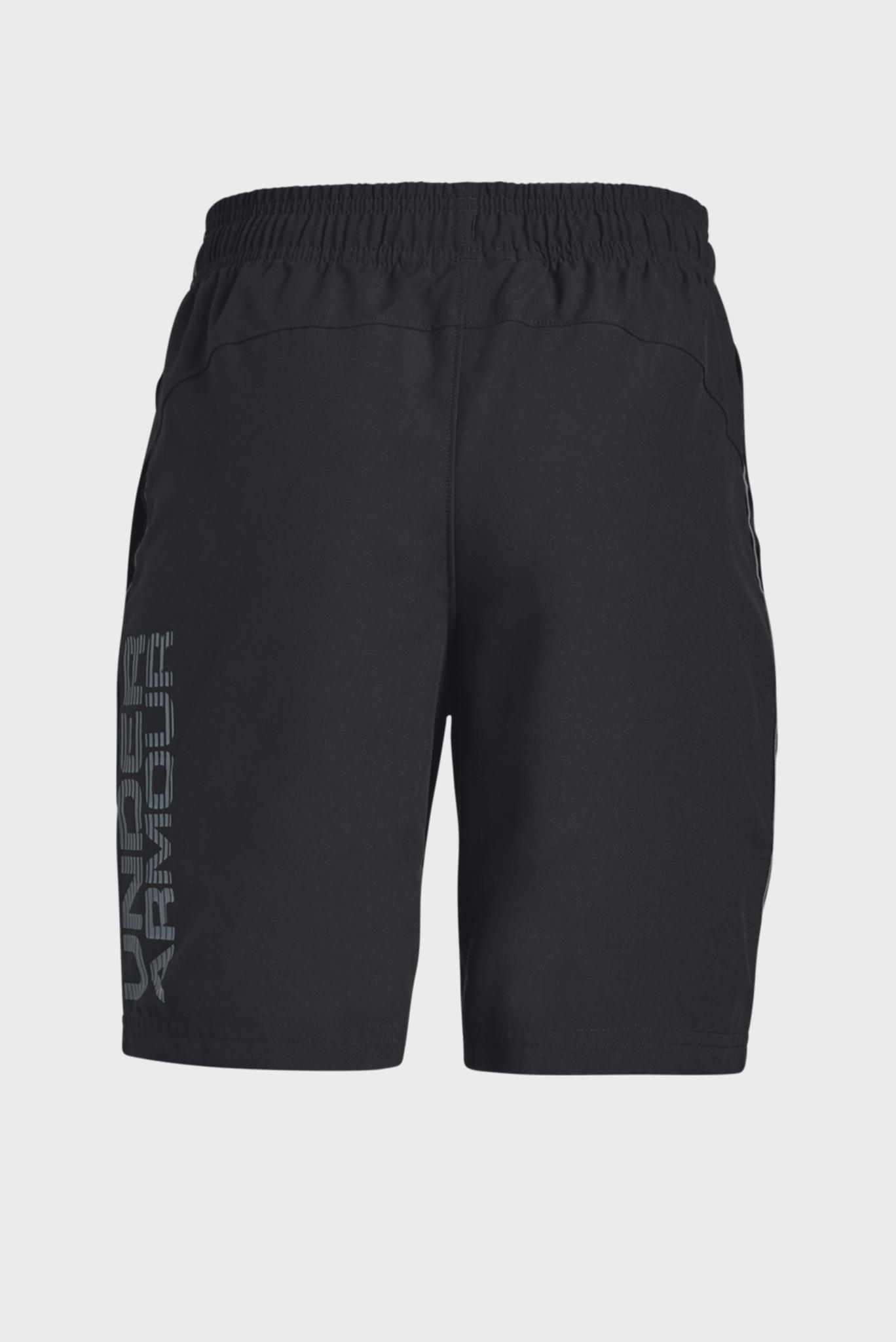 Детские черные спортивные шорты Woven Graphic Shorts Under Armour