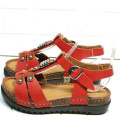 Красивые женские босоножки сандалии женские кожа Rifellini Rovigo 375-1161 Rad.