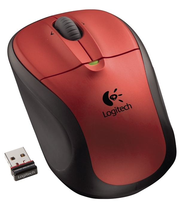 LOGITECH M305 Cordless USB Crimson Red